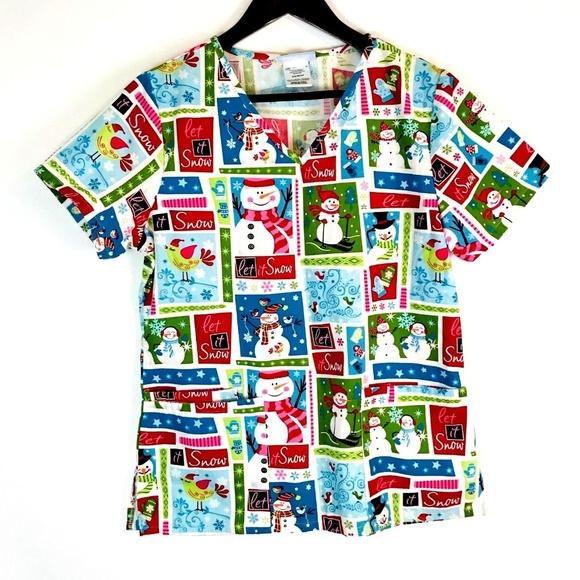 9d2c2bac54a SB Scrubs Tops | Christmas Scrub Top Size Xs | Poshmark